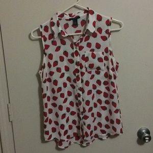 Forever 21 strawberry blouse